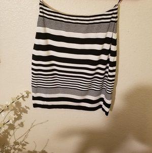 Torn by Ronny Kobo Striped mini skirt